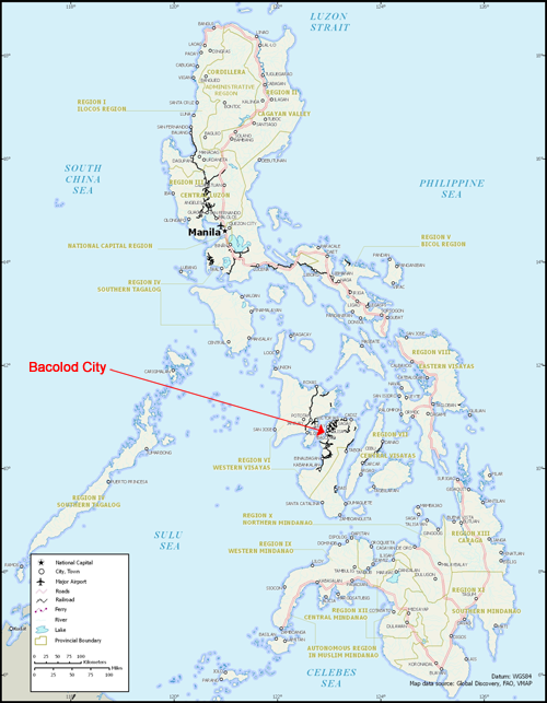Philippines Calvary Chapel Bacolod Philippines - Bacolod map
